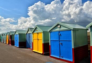Beach Huts. Brighton. UK