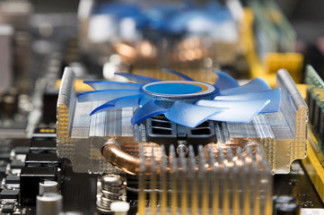 Cpu cooler on motherboard
