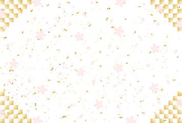 桜 市松背景