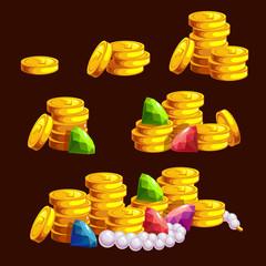 Set of golden treasure