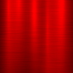 Fototapete - Red metal abstract technology background with polished, brushed texture, chrome, silver, steel, aluminum for design concepts, web, prints, posters, wallpapers, interfaces. Vector illustration.
