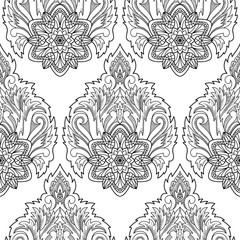 Abstract Lotus Seamless Pattern