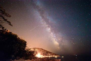 Milky way in the sky of Croatia