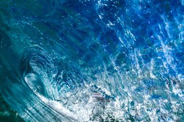 Ocean wave inside view