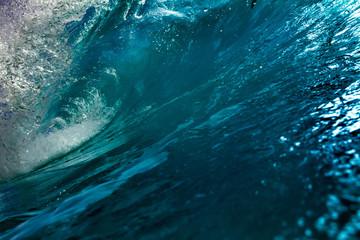 Ocean water in a shape of wave