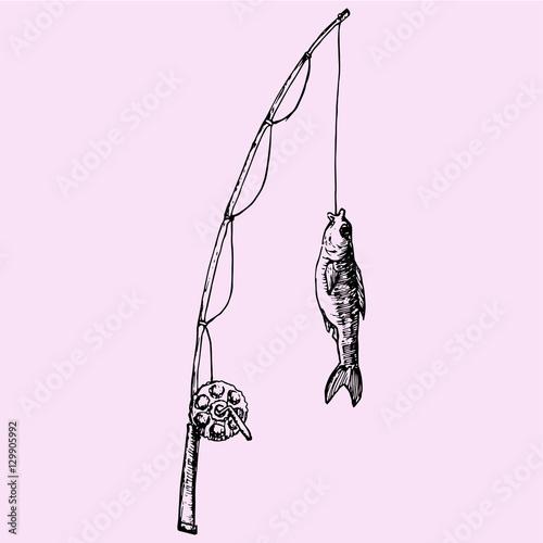 fishing rod sketch - photo #34