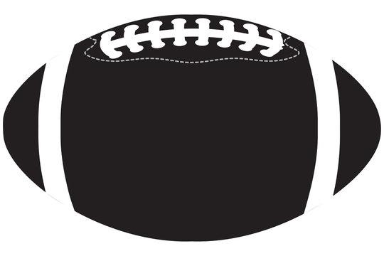 American football ball black