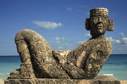 Statue of Chac-Mool, Cancun, Quitana Roo, Mexico