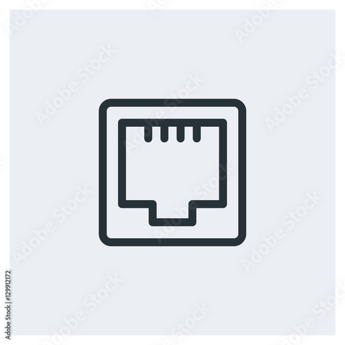 Network Ethernet Port Icon Stock Image And Royalty Free Vector