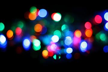 de-focused christmas lights background