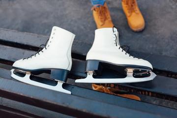 Skates on the bench