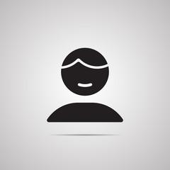 Векторная иллюстрация иконка простой символ плоский для веб person человек