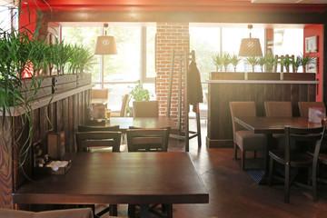 Beautiful interior of modern cafe