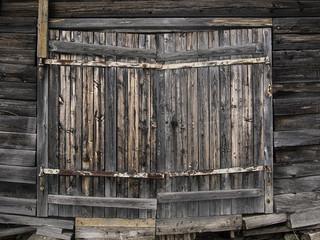 Old brown wood gate.
