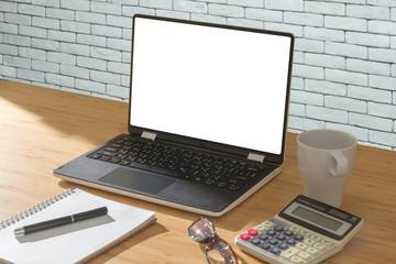 white screen display laptop