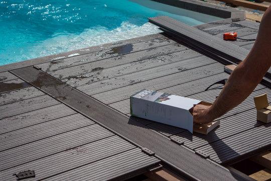 construction terrasse de piscine