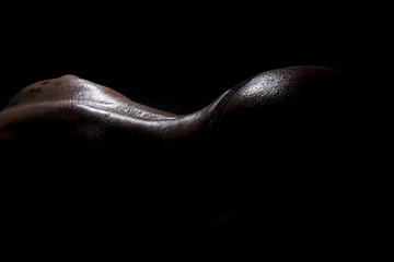Nasser Rücken Po im Licht und Schatten