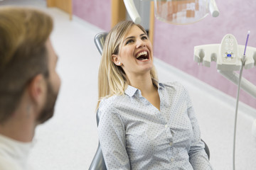 Dental treatment in dentist office