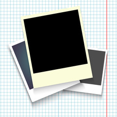 Classic retro style. Set of vector template photo frame with adhesive tape, Isolated. design for your photography and picture. Vector Illustration