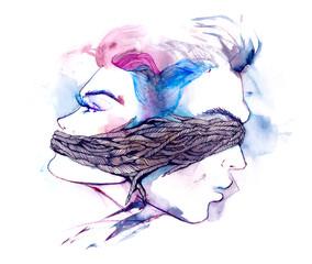 Foto auf Leinwand Gemälde relationships