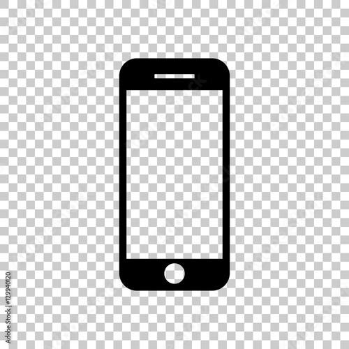 quotmobile phone icon black icon on transparent background