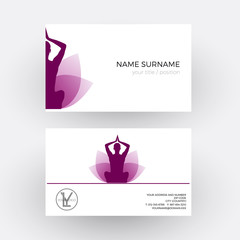 Vector abstract woman and flower, concept of spa, yoga and relax