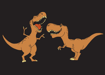 Kids dinosaurs are smiling