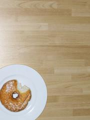 Partially Eaten Donut