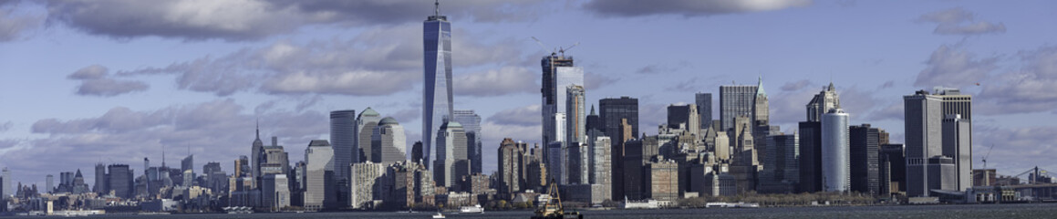 Manhattan, New York  from boat in Harbour