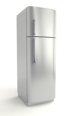 3d model Closed white fridge