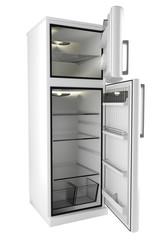3d model of an open refrigerator