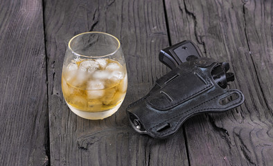 whiskey and a gun