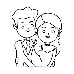 Bride and groom icon. Wedding marriage love and married design. Vector illustration