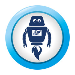 robot character isolated icon vector illustration design