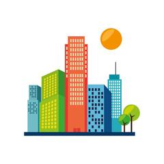 great city buildings icon vector illustration design