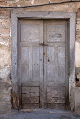 Old door of rural house in Vilafranca del Bierzo