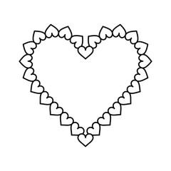 valentine day heart decorative outline vector illustration eps 10