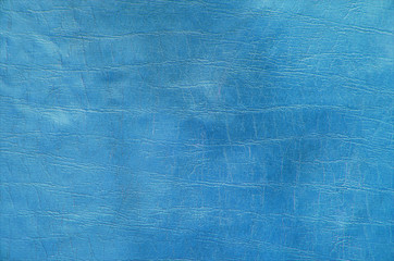 Blue paint leather background or texture