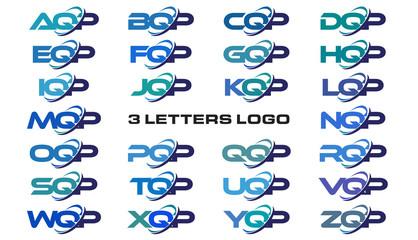 3 letters modern generic swoosh logo AQP, BQP, CQP, DQP, EQP, FQP, GQP, HQP, IQP, JQP, KQP, LQP, MQP, NQP, OQP, PQP, QQP, RQP, SQP, TQP, UQP, VQP, WQP, XQP, YQP, ZQP