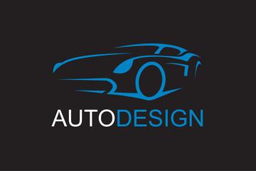 illustration of car emblem on black background