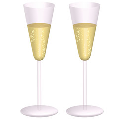 Bicchieri brindisi Natale Capodanno