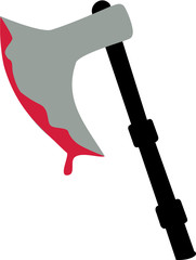 Medieval axe with blood