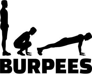 Burpees sequence with word
