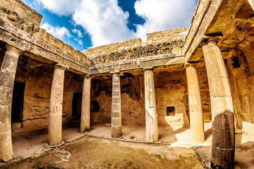 Tomb of the Kings, UNESCO World Heritage Site. Paphos, Cyprus