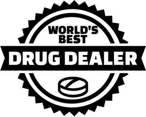 World's best drug dealer button