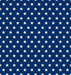 Seamless US Star Pattern Background. Ideal for Fourth of July Independence Day decorations.