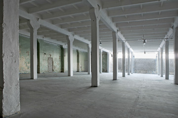 Interior of an abandoned warehouse