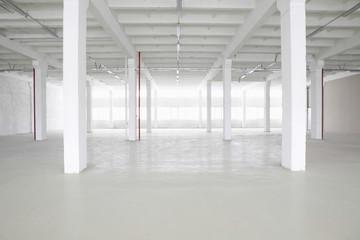 Large empty storehouse