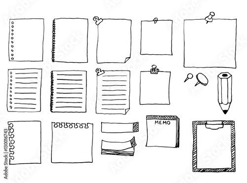 フレーム素材(メモ帳など)