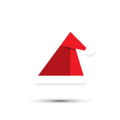 Santa christmas hat vector illustration on white background
